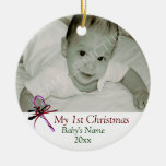 Baby's First Christmas Candy Cane Ornament