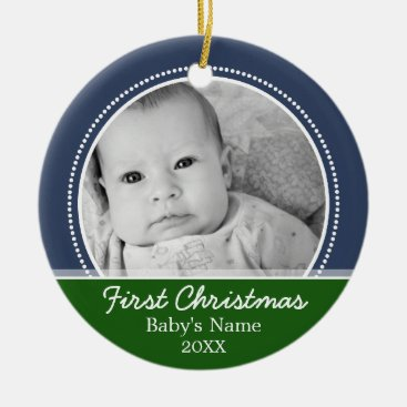 Toddler & Baby themed Babys First Christmas Ceramic Ornament