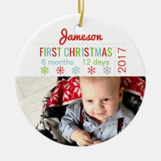 Baby's First Christmas Ceramic Snowflake Ornament