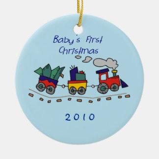 Baby's First Christmas Choo-Choo Train Ceramic Ornament