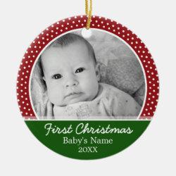Babys First Christmas Christmas Ornament