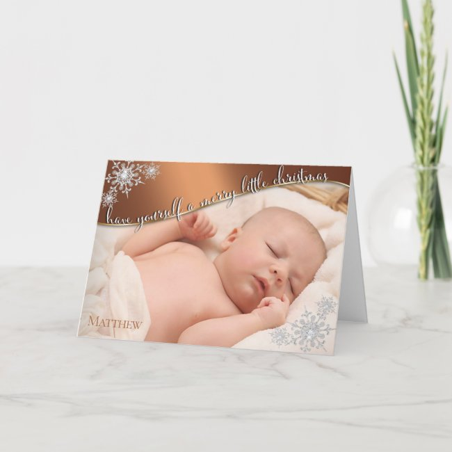 Baby's First Christmas Copper - YOUR BABY'S PHOTO