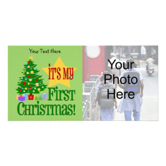 Baby's First Christmas Customizable Photo Cards