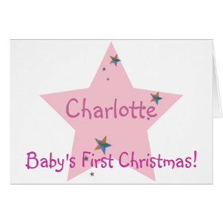Baby's First Christmas!-Customize Card