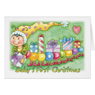 Baby's First Christmas - Cute Little Bauble Bug Tr Card