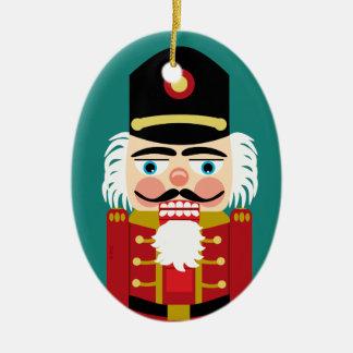 Baby's First Christmas Cute Nutcracker Ceramic Ornament