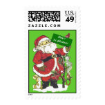 Baby's First Christmas Cute Santa Stamp