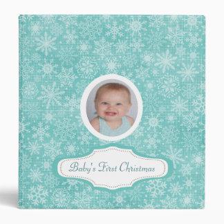 Baby's First Christmas Cute Snowflake Photo Custom Binder