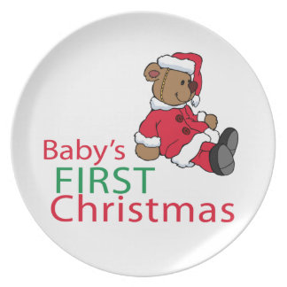 Baby's First Christmas Dinner Plate
