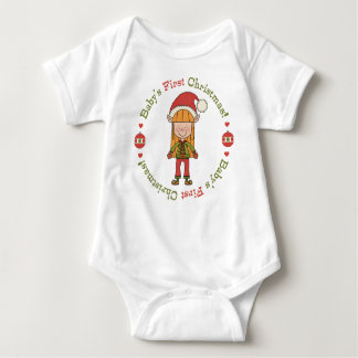 Baby's First Christmas Elf Baby Bodysuit