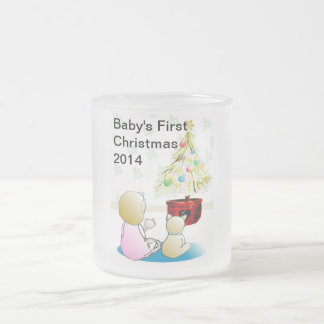 Baby's First Christmas Frosted Glass Coffee Mug