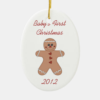 Baby's First Christmas Gingerbread Boy Ornament
