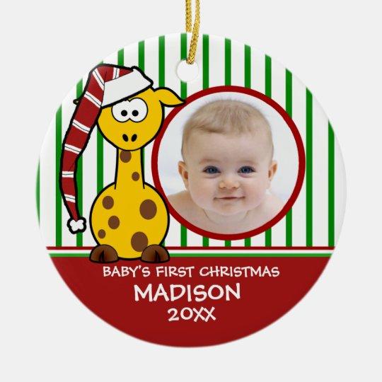 Baby's First Christmas Giraffe Ornament