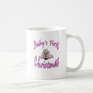 Babys First Christmas girl Coffee Mug