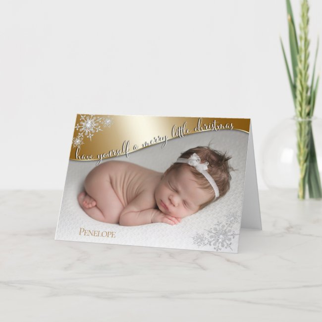 Baby's First Christmas Gold - YOUR BABY'S PHOTO