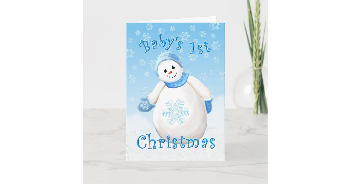 Baby S First Christmas Greeting Card Zazzle Com