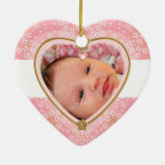 Baby's First Christmas Heart Frame Ornaments