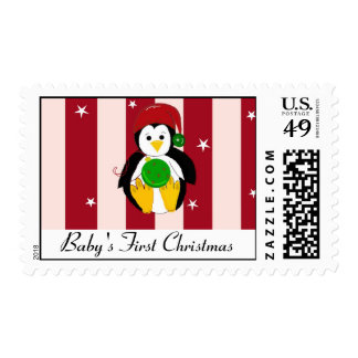 Baby's First Christmas Holiday Penguin Postage