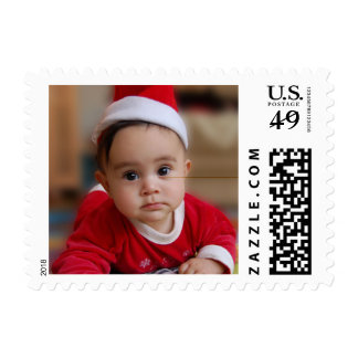 Baby's First Christmas Holiday Personalized Photo Postage
