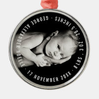 Baby's First Christmas Holiday Photo Ornament
