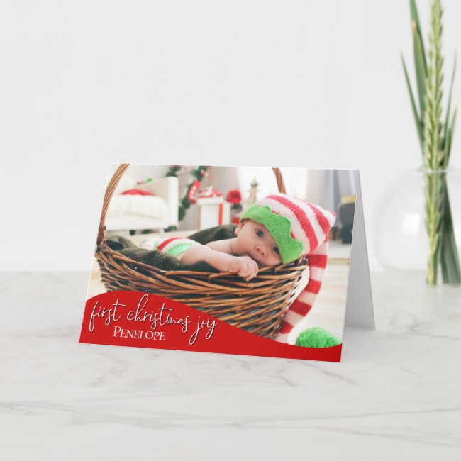 Baby's First Christmas Joy - YOUR BABY'S PHOTO