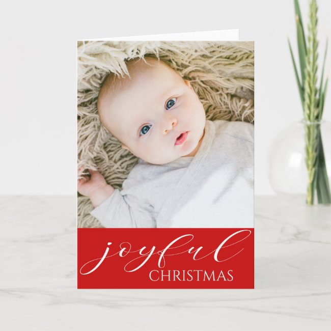 Baby's First Christmas Joyful - YOUR BABY'S PHOTO