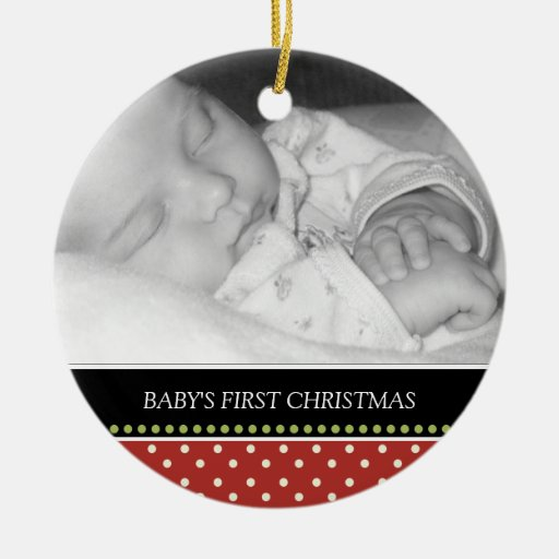 Baby's First Christmas Keepsake Ornaments | Zazzle