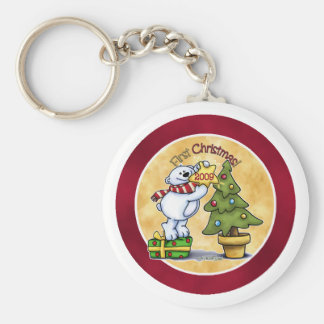 Baby's First Christmas Keychain