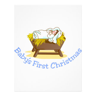 Babys First Christmas Letterhead