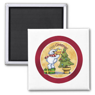 Baby's First Christmas 2 Inch Square Magnet