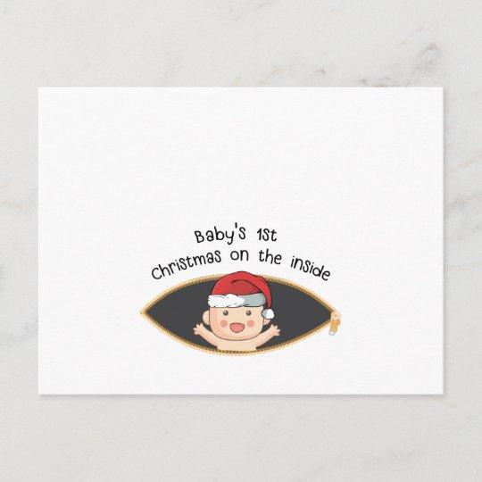 e5fe68b06bf48 babys first christmas maternity santa baby shower invitation postcard |  Zazzle.com