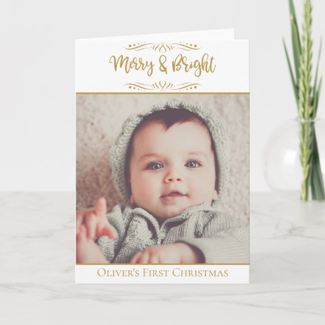 Baby's First Christmas Merry & Bright BABY'S PHOTO