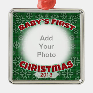 Baby's First Christmas Metal Ornament