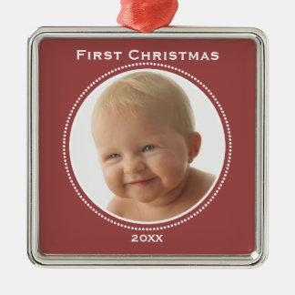 Babys First Christmas Metal Ornament