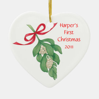 Baby's First Christmas~Mistletoe Ornament