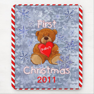 Baby's First Christmas Mouse Pad
