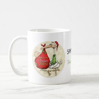 Babys First Christmas Classic White Coffee Mug