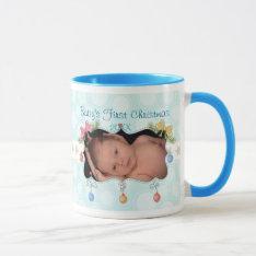 Baby's First Christmas Mug at Zazzle