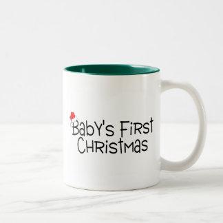 Babys First Christmas Two-Tone Coffee Mug