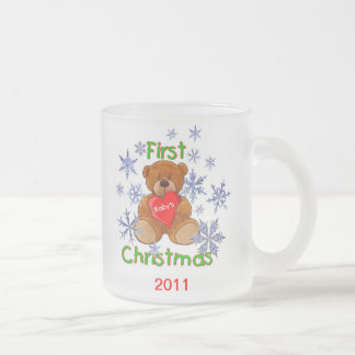 Baby's First Christmas 10 Oz Frosted Glass Coffee Mug