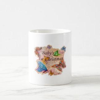 Baby's First Christmas Classic White Coffee Mug