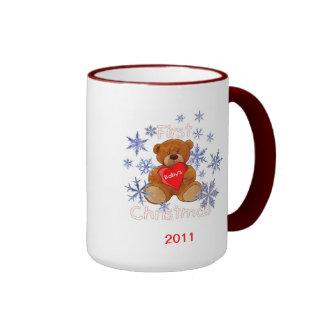 Baby's First Christmas Ringer Coffee Mug