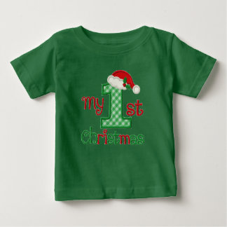 Baby's First Christmas - name customized - Baby T-Shirt