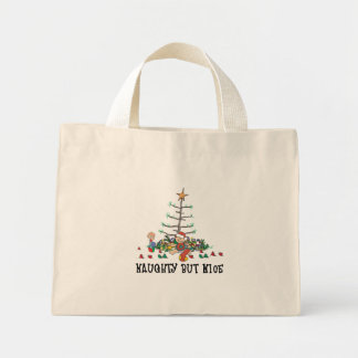 Baby's First Christmas Naughty But Nice Mini Tote Bag