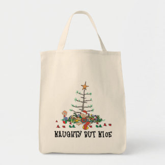 Baby's First Christmas Naughty But Nice Tote Bag