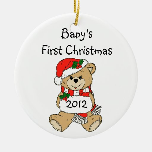 baby 39 s first christmas ornament 2012 zazzle. Black Bedroom Furniture Sets. Home Design Ideas