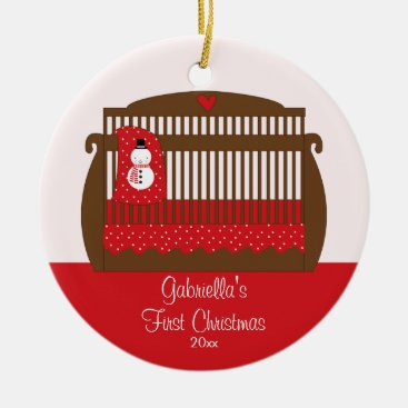 Toddler & Baby themed Baby's First Christmas Ornament Christmas Crib