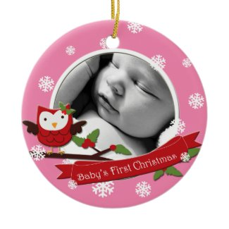 Baby's First Christmas Ornament - Custom Photo