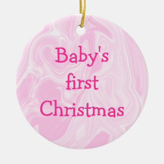 Baby's First Christmas ornament, Customize! Ceramic Ornament