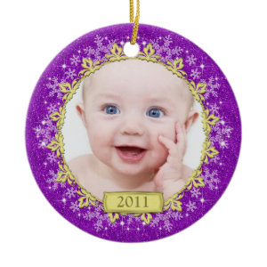 Baby's First Christmas Ornament - Snowflakes ornament
